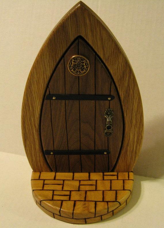 Fairy door wooden collector edition for Wooden elf door