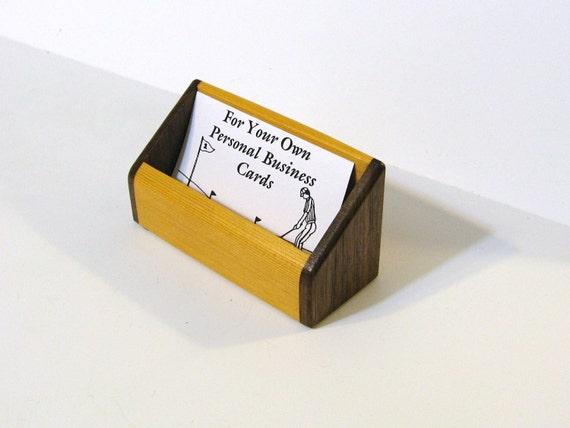 Business Card Box Made From Walnut And Cedar