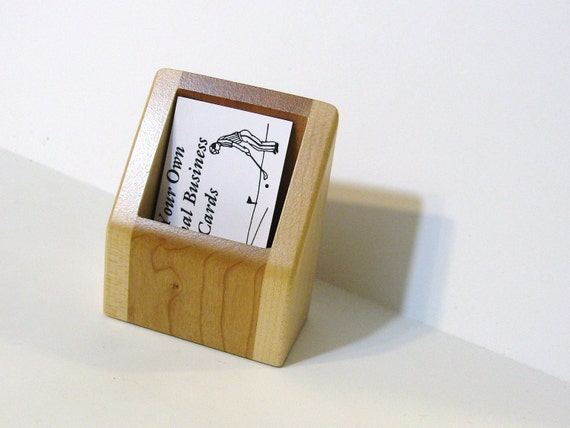Business Card Box Made From Maple And Cherry