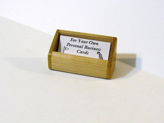 Business Card Holder Made Of Oak And Osage Orange  Wood
