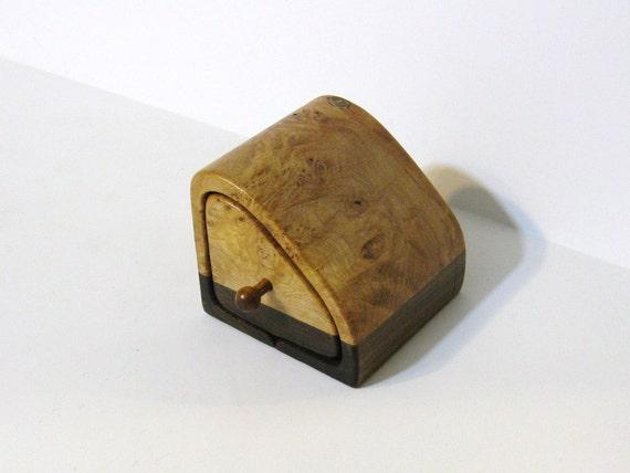 Trinket Box Made Of Maple Burl wood