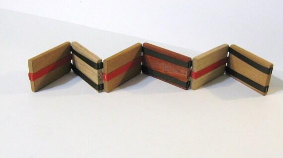 Jacob's Ladder Tumbling Blocks Made Of Three Woods