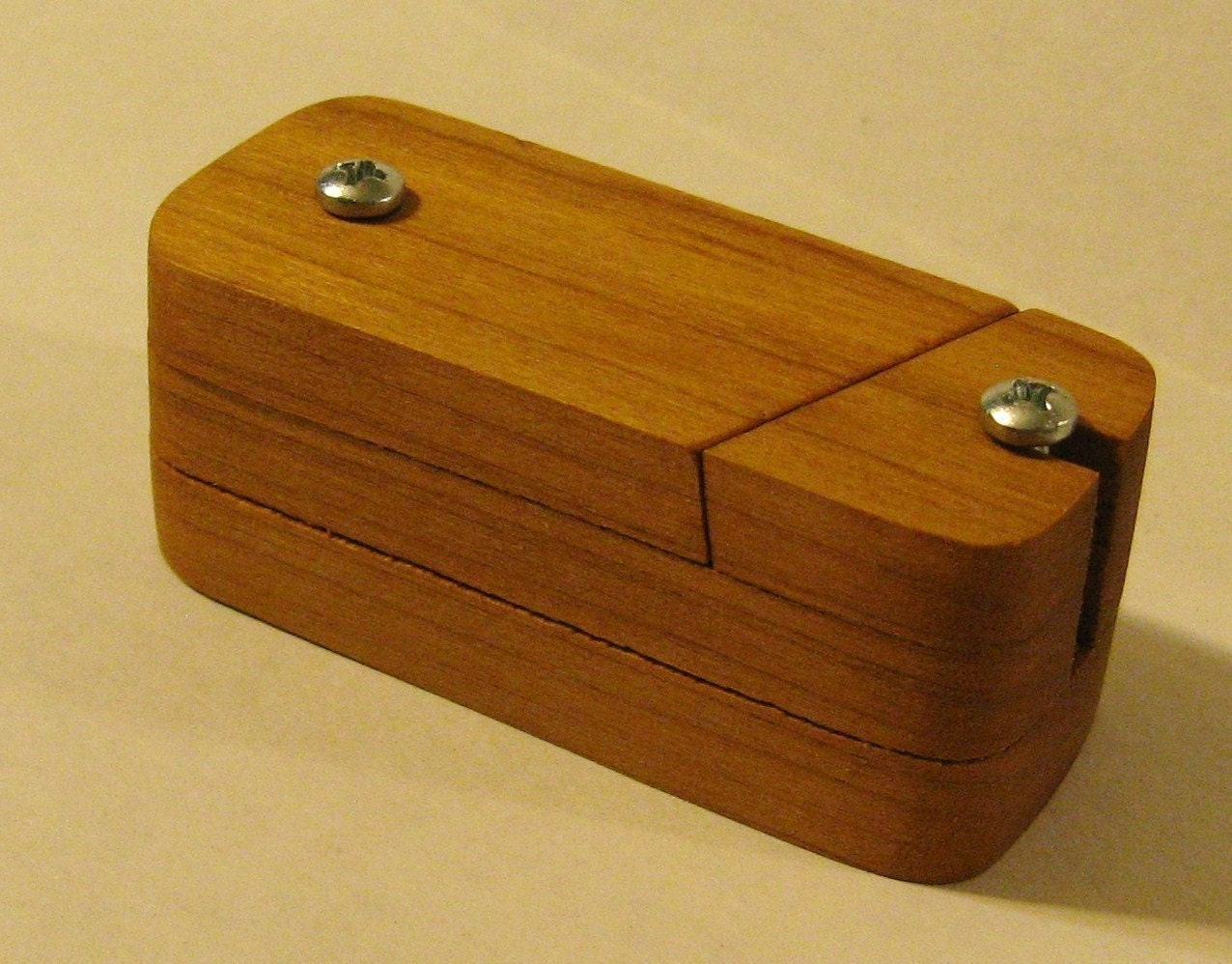 Amazing Penny Puzzle Box Made Of Cherry Wood