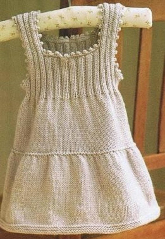 Hand Knitted Dress Patterns : Items similar to Cashmere Hand Knitted Baby Dress USD29 on Etsy