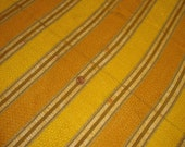 Mod 1960s 1970s Vintage Fabric Orange and Gold Striped Upholstrey Or Curtain Buy 2 yards get the third yard half price