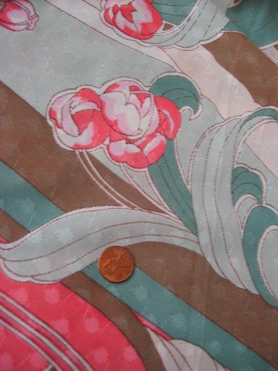 Vintage 1970s Art Nouvea Gypsy Rose Emilio Pucci esque Fabric 4 yards