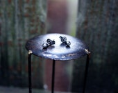Sale Faceted sterling silver post earrings Free Domestic Shipping