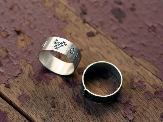 Computer Love Ring 8 bit edition sterling silver No.31