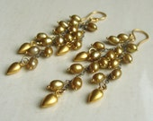 RESERVED Sueno Earrings with Bronze Pearls