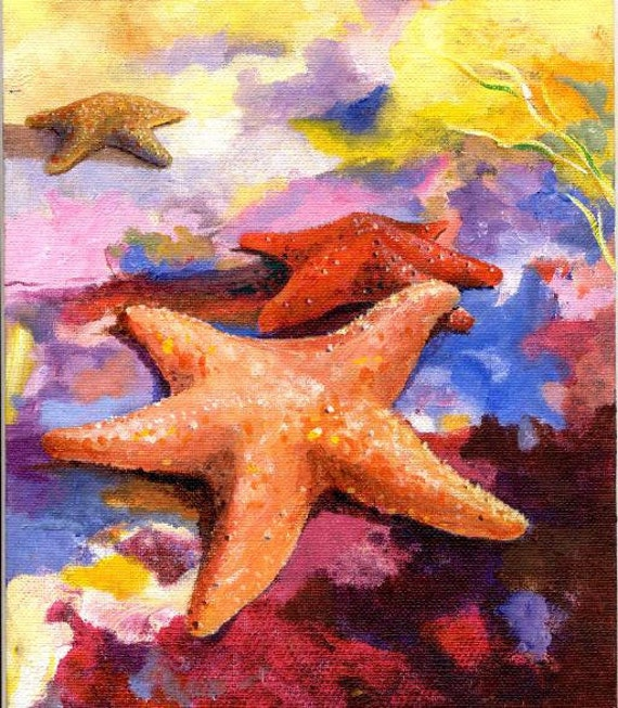Starfish in LOVE... 8X10 high quality Art print by Barry Singer