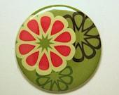 Mod Retro Triple Flower Pocket Mirror or KeyChain