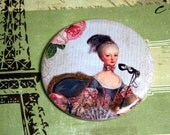 Marie Antoinette Pocket Mirror- Masque with Rose