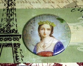 French Queen Pocket Mirror- French Script