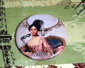 Marie Antoinette Pocket Mirror- Masque with Fascinator