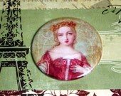 French Queen Pocket Mirror- Ruby Red