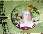 French Queen Pocket Mirror- Bird Girl