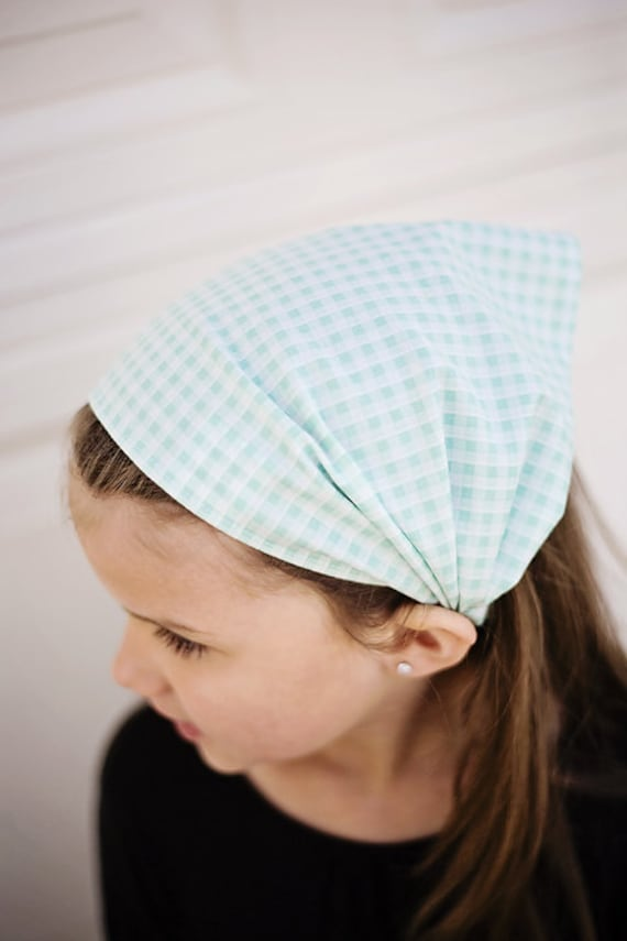 BUY 2 GET 1 FREE - Baby Blue Checks Headband