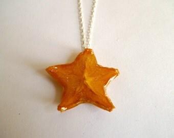 Fruit Jewelry: Starfruit Glitter Necklace