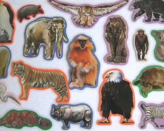 Animals Felt Board Set, Animals Flannel Board Set, Homeschool Preschool,