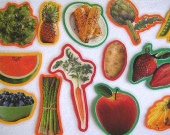 Fruits And Vegetables Felt Board Set, Vegetables Flannel Board, Food Felt Board Set, Teacher Resource