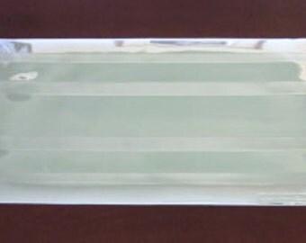 Vintage Silver Vinyl Table Runner Art Deco Style