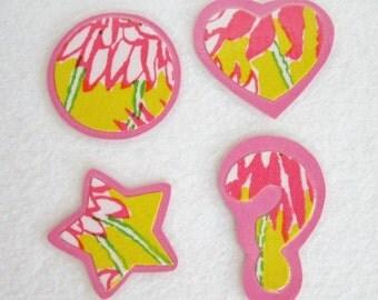 Pink Fabric Magnet Set