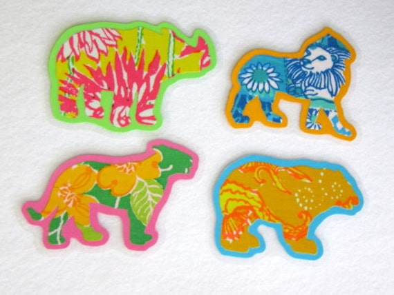 Animal Magnets, Animal Fabric Magnets, Laminated Magnets, Kitchen Magnets, Wild Magnets