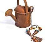 Copper Vintage Windmill Charm Necklace OOAK