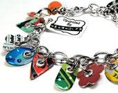Recycled Jewelry Soda Can Charm Bracelet