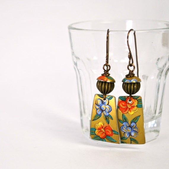 Earrings from Vintage Tin Recycled