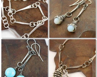 Twisted Forged Silver Links - Tutorial Only - Instant Download