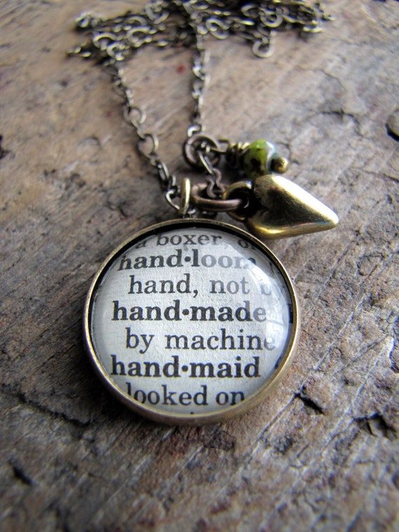 define handmade handmade dictionary definition charm necklace 9011
