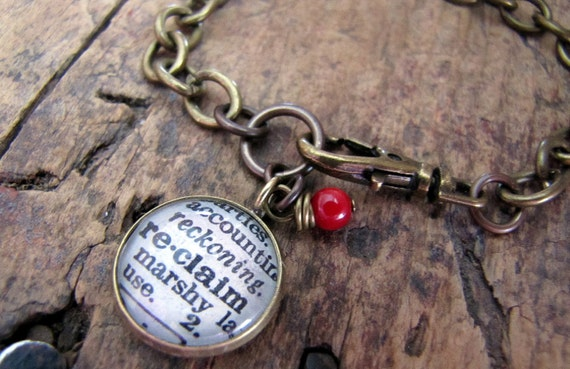 reclaim Dictionary Definition Charm Bracelet