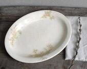 Antique Platter  :  Vintage WS George Soft Pink Floral Derwood Pattern Plate, serving platter