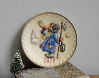 Vintage Hummel Plate Annual Christmas Edition 1972