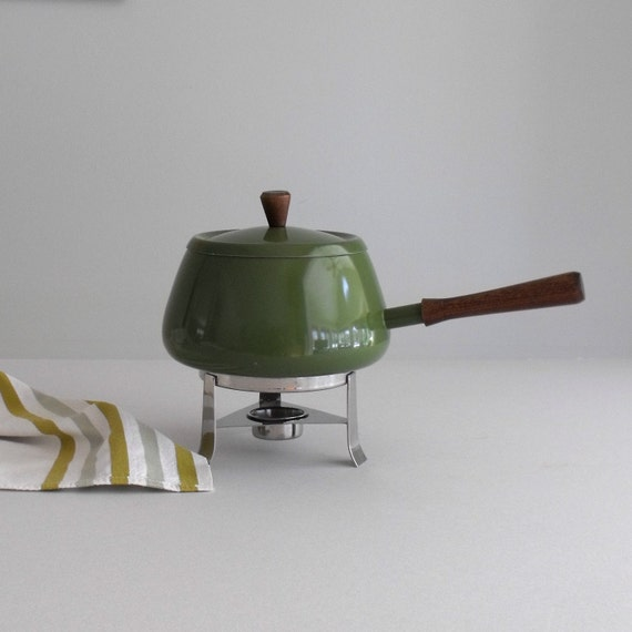 Spring Green Enamel Pot with Stand