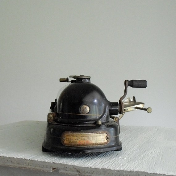 RESERVED for Hetao 55  Antique Check Writer Todd Protectograph