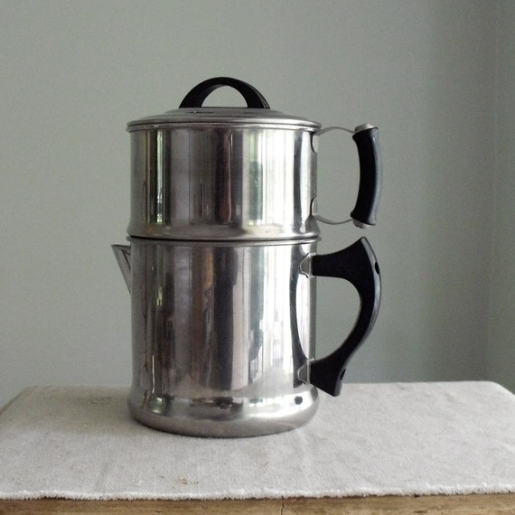 Vintage Lifetime Drip Coffee Maker with Bakelite Handles