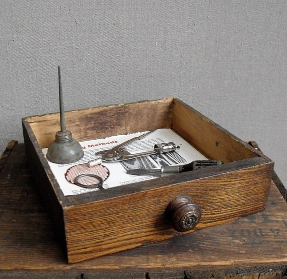 Vintage Tool Collection in Vintage Drawer.  Gift Set