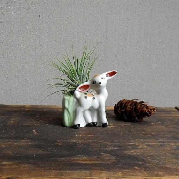 Vintage Deer Planter Vase from Japan