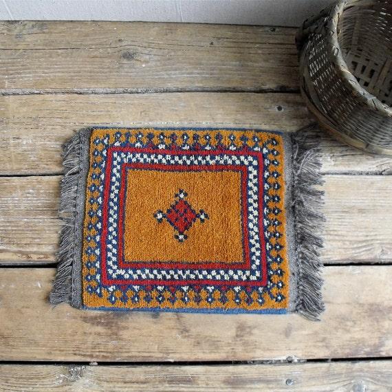RESERVED LISTING for andrewmarc : Vintage Small Handmade Carpet, Tribal, Folk art, Native