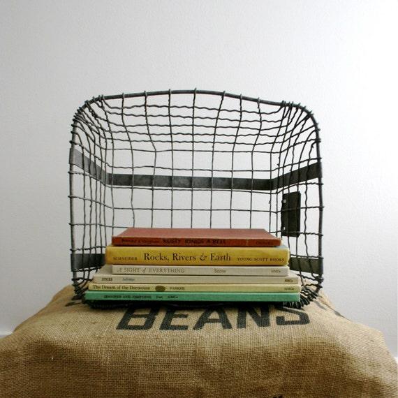 antique metal old school locker basket. Black Bedroom Furniture Sets. Home Design Ideas