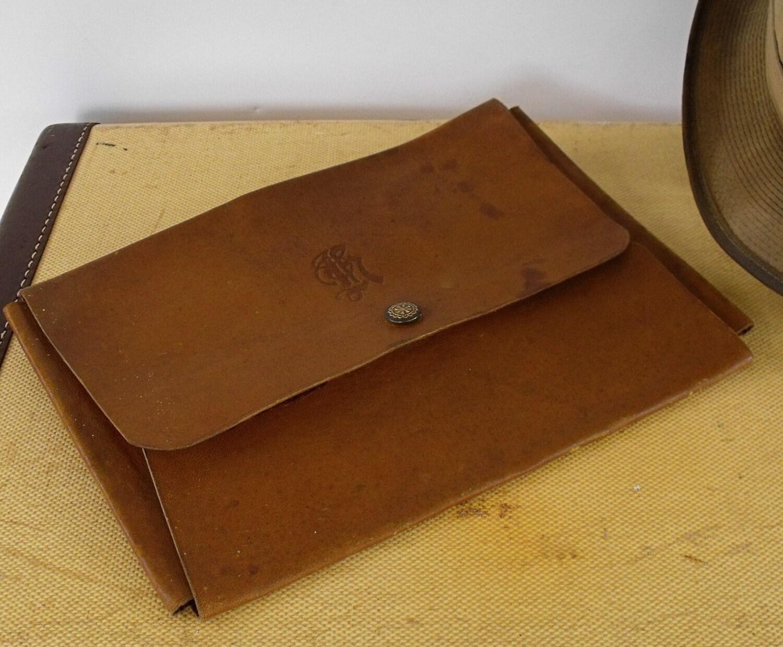 Vintage Leather Document Holder