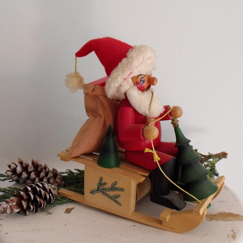 Vintage Steinbach Nutcracker Santa Smoker Mover