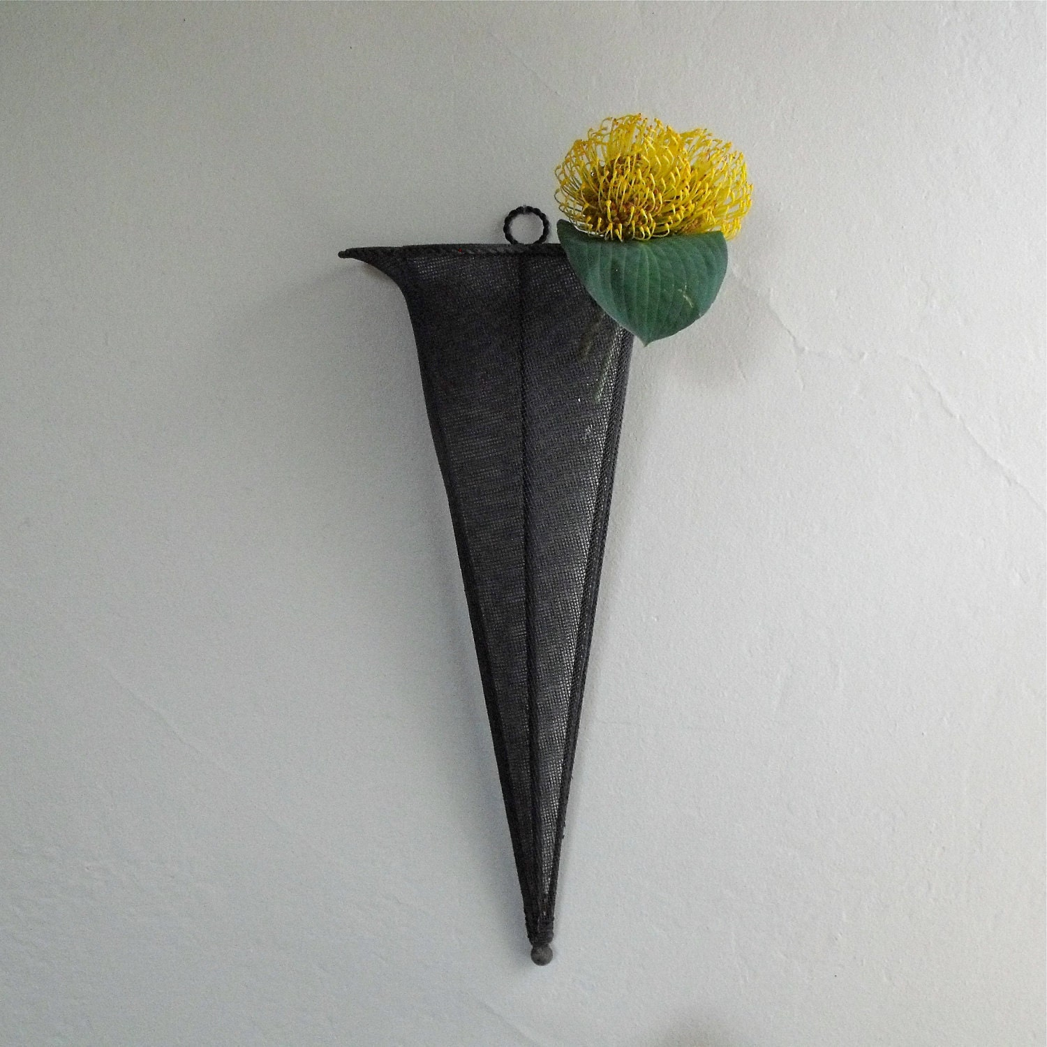 Vintage Wall Pocket Cone Metal Wall Hanging Planter