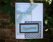 baby blue CONGRATULATIONS card