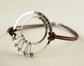 Round and Round - Twin Circle Wire Wrapped Bracelet - 1/2 PRICE SALE