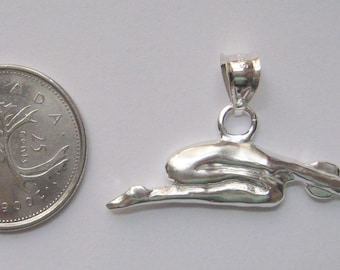 Yoga Pose Pendant - Childs Pose Sterling Silver