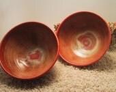 "Set of Large ""Sun Glaze"" Soup Bowls"
