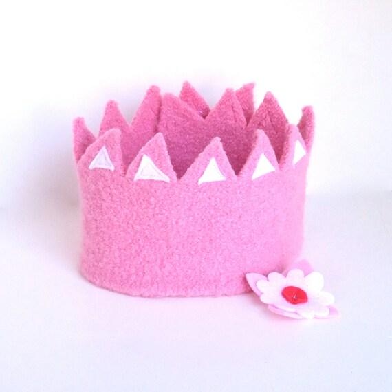 Spring Princess Felt Crown with detachable flower